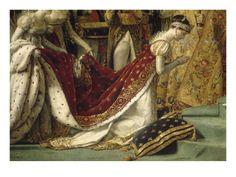 Sacre de l'empereur Napoléon et couronnement de l'impératrice Joséphine reproduction procédé giclée