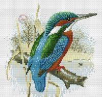 "Gallery.ru / BelleBlue - Альбом ""Зимородки"" 123 Cross Stitch, Cross Stitch Magazines, Bird, Birds"