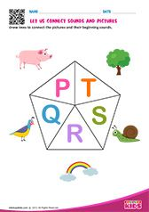 Phonic Match P to R Letter S Worksheets, Alphabet Worksheets, Alphabet Activities, Preschool Phonics, Teaching Kindergarten, Preschool Worksheets, Alphabet Sounds, Phonics Sounds, Phonetics For Kids