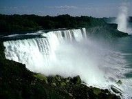 niagra falls - can you imagine how much water that is?  who the heck wants to go over in a barrel?  no thank you!