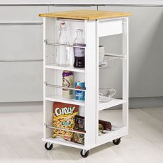 Carro, armario, estante, estantería con ruedas  de cocina