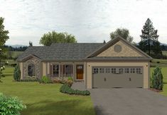 Compact Ranch Design - 2003GA | 1st Floor Master Suite, CAD Available, PDF, Ranch | Architectural Designs
