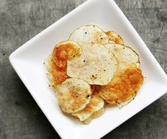 homemade crispy potato chips in the microwave.  5 mins for a single serve batch.  gonna try this!