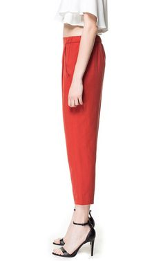STRUCTURED TROUSERS from Zara