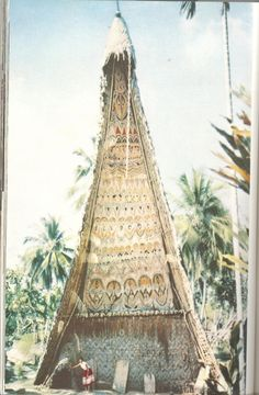 Beautiful decorated teepee-tent. Where is this? Indonesia?