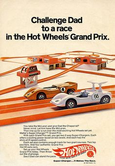 Hot Wheels Super-Charger Race Set Ad, 1970's