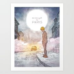 Midnight in Paris Art Print by Kyle T Webster - $19.00