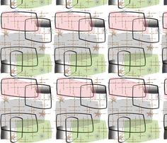 Mid-Century Modern Abstract 11 fabric by hot4tees_bg@yahoo_com on Spoonflower - custom fabric
