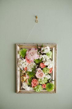 Framed Flower Wall