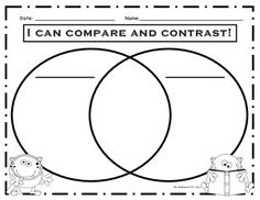 Free Fall Compare And Contrast Venn Diagram  TeacherS TakeOut