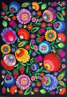 38 Ideas Folk Art Painting Flowers Floral Patterns Colour For 2019 Polish Folk Art, Folk Embroidery, Motif Floral, Mexican Art, Pattern Art, Art Patterns, Floral Patterns, Pattern Design, Fabric Patterns