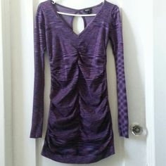Sweater Tunic Dress -NoOffersDeclined Very nice and thick material with normal wear and tear yet in excellent condition.Purples from light to dark.Small but also fits medium due to stretch material. No pp. No trades XOXO Dresses