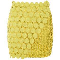 Topshop Woven Pattern Mini Skirt (£10) ❤ liked on Polyvore featuring skirts, mini skirts, topshop, chartreuse, print skirt, overlay skirt, fitted mini skirt, patterned skirts and beige mini skirt