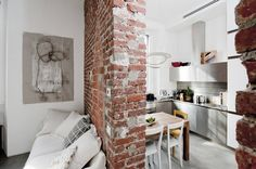 I'm becoming more and more fascinated by small space living and this tiny Italian apartment has...