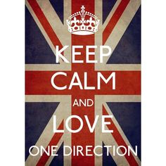 Keep Calm and love One direction found on Polyvore featuring home, home decor, office accessories, one direction, 1d, backgrounds, pictures and quotes