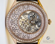 """Ottoman Architecture Fabuleux Ornaments by Vacheron Constantin - feminine creations called Fabuleux Ornements (""""fabulous ornaments""""). These clearly stem from the creative mind of product director Christian Selmoni, whose artistic eye is often inspired by trips he takes. The timepieces literally revel in the celebration of foreign cultures' artistic crafts. Pictured here is the Ottoman Architecture model powered by manually wound Caliber 1003SQ, which has not only been hand-skeletonized but…"""