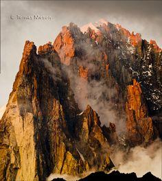 Atardecer en le petit Dru (Chamonix- Mont Blanc)