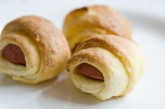 """Pigs in a Blanket: """"Great tasting dough, great consistency and pretty easy to do. I am horrible at baking but this actually worked out, so if I can do it, anyone can! I used a package of 7 Hebrew National Hot Dogs and cut each into thirds."""" -Mandi T"""