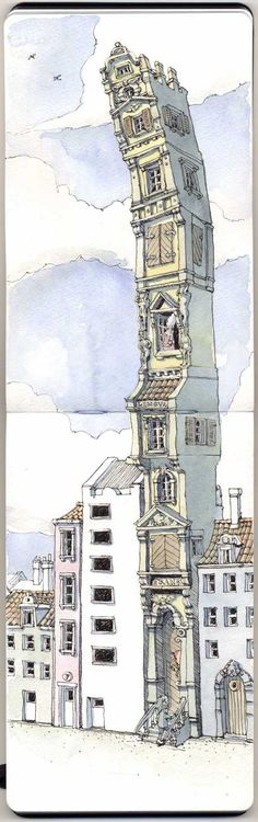 Architecture by Mattias Adolfsson, via Behance