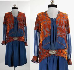 années 1920 robe/20 s de soie robe de par VintageRoseTattoo sur Etsy
