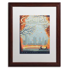 'Central Park New York City' by Anderson Design Group Framed Graphic Art