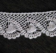Pineapple swirl crochet edging patterns.