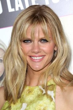 Brooklyn Decker's piece-y bangs are so soft and feminine—and the slightly longer length adds a bit of flirtiness.