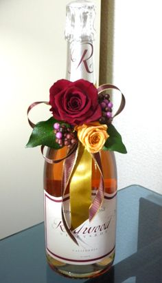 preserved flower ボトル飾り