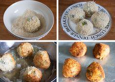 Crispy yet creamy Orzo arancini | Singly Scrumptious