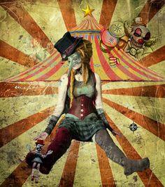 Concept of Circus & Photomanipulation