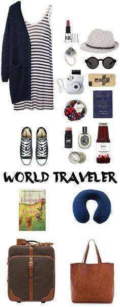 World Traveler : attire & essentials for traveling.