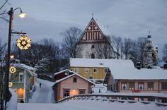 villesdeurope: Christmas in… Porvoo, Finland Christmas Scenery, Winter Scenery, Beautiful Winter Pictures, Holidays In Finland, Finland Travel, Scandinavian Countries, Winter Travel, Best Cities, Helsinki