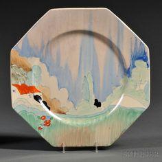Clarice Cliff Forest Glen   Plate