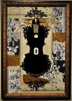 """Fay Sciarra's """"Groom"""" Violin collage"""
