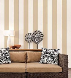 Norwall Shades Stripe Wallpaper Taupe - The Savvy Decorator Classic Wallpaper, Striped Wallpaper, Modern Decor, Modern Design, 2017 Wallpaper, Striped Walls, Wide Stripes, Kids Decor, Home Decor