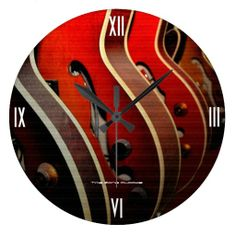 Take Your Pick Large Wall Clock available at www.zazzle.com/timezoneclocks
