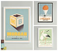 Custom artwork with your child's name from Alexander & Co - looks like high-quality, beautiful vintage advertising