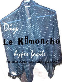 Un diy pour se fabriquer un kimono/poncho facilement. A DIY to sew a easy kimono/ poncho Diy visible ici : http://lavieestverte.com/index.php/diy-deco-mode/mode/21-kimoncho-tutoriel-du-kimono-poncho See the DIY : http://lavieestverte.com/index.php/diy-deco-mode/mode/21-kimoncho-tutoriel-du-kimono-poncho