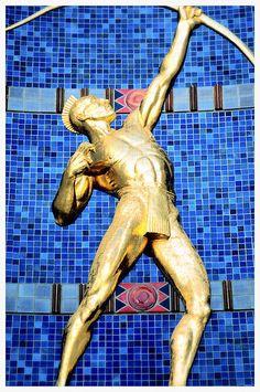 Tejas Indian Gold Sculpture Hall Of State Fair Park Art Deco Architecture Dallas Texas Photographer