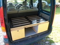 Small van camper conversion made from wood - Carpentry & Joinery job in Swansea,.,Small van camper conversion made from wood - Carpentry & Joinery job in Swansea, West Glamorgan - MyBuilder. Auto Camping, Minivan Camping, Diy Camping, Camping Kitchen, Travel Camper, Car Camper, Mini Camper, Popup Camper, Mini Caravan