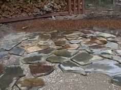 How To Lay A Flagstones Patio(Part 1of2).MP4   YouTube
