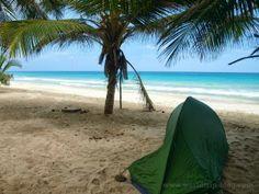 Camping at a beautiful beach in Venezuela