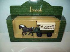 HARRODS ORIGINAL DIE CAST HORSE CARRIAGE DELIVERY
