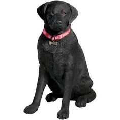 Sandicast Adult Black Labrador Retriever Sculpture The most popular pooch in the world! These dogs are known for being gentle and fun-loving! This Sculpture was created by internat
