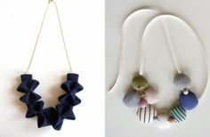 handcrafted fabric necklaces
