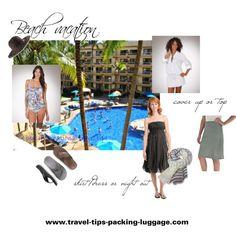Beach Vacation by travelbitt, via Polyvore