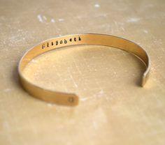 Custom Brass Cuff Bracelet Personalized by FutureHeirloomDesign  $29