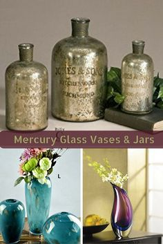 Mercury Glass Decorative Accents Can Be Seen In Homes All Around The World.  Mercury Glass Sometimes Also Called Silvered Glass Actually Contains No