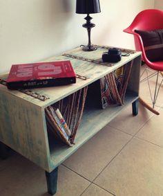 #wood #table #pine #robe #blue  #beach #vibes #rock #perlanegra Blue Beach, Wood Table, Magazine Rack, Pine, Cabinet, Rock, Storage, Furniture, Home Decor