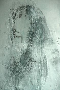 Transfer painting on aluminum.  Berlin-based Norwegian artist Berit Myreboee